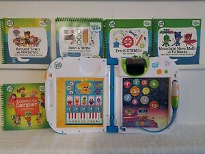 LeapFrog LeapStart 3D Learning System with 5 Books level 2. Used Ages 3-4