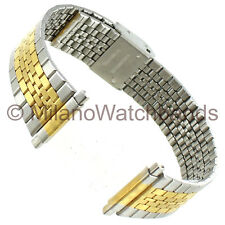 16-22mm Milano Mens Two Tone Stainless Steel Two Piece Watch Band
