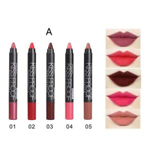 5 Colors Waterproof Liquid Pencil Matte Velvet Lipstick Lip Gloss Makeup Set