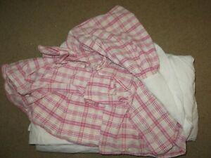 GREAT pink plaid bed skirt - full 53 x 72 approx. (or we used as a twin)