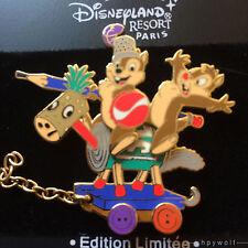 Paris Disney CHIP & DALE ON A TOY HORSE DLRP Train Series LE 900 Pin