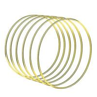 Welded Metal Ring Craft Hoop Gold DIY Accessories ada