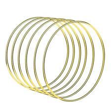 Welded Metal Ring Craft Hoop Gold DIY Accessories ada