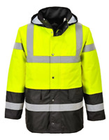 CUSTOM HI-VIS INSULATED CONTRAST TRAFFIC JACKET CLASS 3 US466