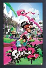 SPLATOON 2 NINTENDO SWITCH 13x19 FRAMED GELCOAT POSTER VIDEO GAME NEW HUMANOID!!