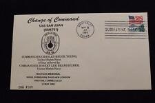 DRW NAVALCOVER #109A CHANGE OF COMMAND USS SAN JUAN (SSN-751) 1989 MACHINE CANC
