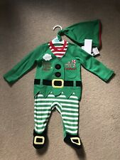 Baby Christmas Elf Outfit Age 0-3 Months - Brand New