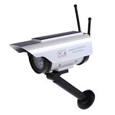 Solar Power Fake Dummy Outdoor Security Home CCTV Camera Flashing LED light