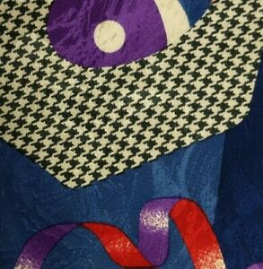 Blue Purple Abstract ERVE JACQUES Silk Tie