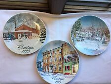 New Listing3 Smucker'S Christmas Collector Plates/David Collidge/Years 1993-95-96 Reduced