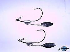 2 montages texan plombé avec palette QUICK LURE BKK antiherbe pêche brochet bar