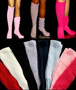 SLOUCH KNEE High SOCKS choose color Women's Long Hooters Uniform Running  School