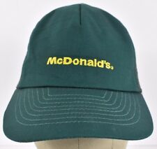 Green McDonald's Company Logo Embroidered Trucker hat cap Adjustable Snapback