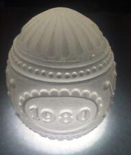 *Geuine* Goebel 1980 Annual Crystal Glass Easter Egg