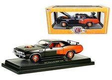 M2 MACHINES 1:24 DETROIT-MUSCLE 1971 PLYMOUTH HEMI CUDA Diecast Car Black