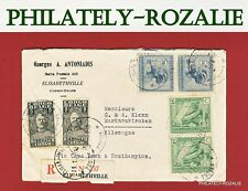 BELGISH CONGO AIR MAIL REGISTRED COVER 1930 AVIATION  COB7