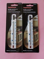 2 x Fridge and Freezer Thermometer by Supahome New