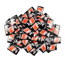 10 Logo AUDI R LINE Stickers 3D Emblème Jantes et Volant Autocollant 19X11mm