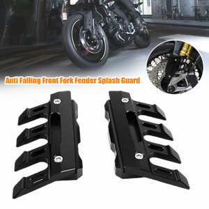 CNC Universal Motorcycle Front Fork Fender Cover Mud Flap Frame Splash Guard Set
