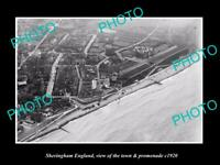 OLD 6 X 4 HISTORIC PHOTO OF SHERINGHAM ENGLAND THE TOWN & PROMENADE c1920