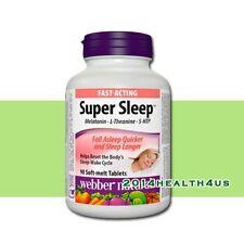 Webber Naturals Super Sleep Melatonin Plus L-Theanine & 5-HTP, 90 soft-melt tabs