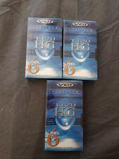 VHS Tape Lot 3 Sealed VCI Platinum T120 HG 6 Hrs