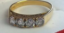 18ct Yellow Gold •60ct of 4 Diamonds Solitaire Ring. Size M 1/2
