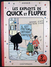 Hergé Quick et Flupke 5ème série Années 50 Ed. Casterman TBE