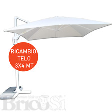 Telo Copertura di ricambio per ombrellone decentrato da giardino 3x4 Bianco