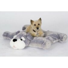 """NEW Schnauzer Pillow Chums Kelly Toy Grey/White Plush 26"""" Sold Out In Stores"""