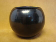 Santa Clara Indian Pottery Handmade by Birdell Vine Flower! Hand Coiled PT0179
