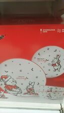 More details for disney winnie the pooh festive xmas 12pc plate set - limited time sale new