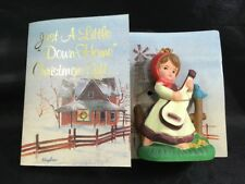 Down Home Christmas Gift Doll and Card Little Girl with Guitar Bradford Novelty