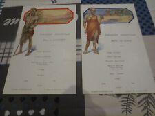 Paquebot Albertville Congo Belge - menus 22 décembre 1932