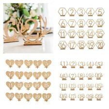 1-20 Wooden Table Number Freestanding for Wedding Table Decoration