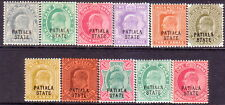 1903-12 INDIA PATIALA SG #35-47 two issues MH CV £52