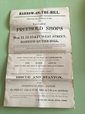 More details for harrow on the hill 1909 sale of valuable freehold shops ref r25725