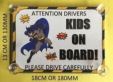 I SUPEREROI BATMAN bambini a bordo AUTO Firmare laminato