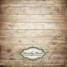 2ft x 2ft Vinyl Photography Backdrop - Brown Washed Wood