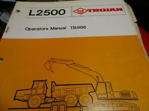 Trojan L2500 Wheel Loader Operators Manual