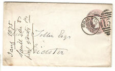 Queen Victoria - 1d Pink Embossed - Cover - Leicester to Bristol 1875