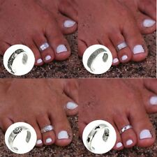 8Pcs/Set Flowers Carved Toe Ring Set Fashion Foot Rings Women Beach Jewelry