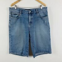 Ripcurl Mens Denim Shorts Size 36 Vintage Good Condition Blue Medium Wash
