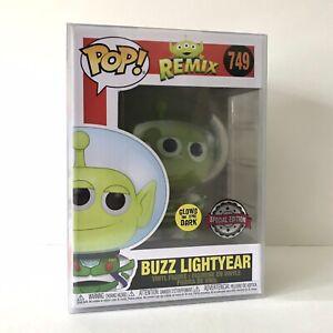 Disney Toy Story Alien Remix Buzz Glow In The Dark Funko Pop Figure + Protector