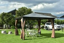 10 X 10 ft  Luxury Outdoor Steel Frame Garden Party Canopy Backyard Gazebo