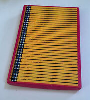 Vintage 'Pencils' Stationary Set By Hallmark Scalloped Sheets & Envelopes In Box
