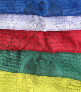 VERTICAL Tibetan prayer flags ~ Victory over Obstacles