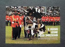 AL43 - Clipping-Ritaglio -1986- NUOVO RE NELLO SWAZILAND , AFRICA