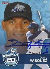 Danry Vasquez 2013 West Michigan Whitecaps Signed Card