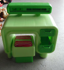 """Vintage 1970s Retro Green Doll Desk and Chair  Furniture 6"""" Tall"""